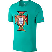 Nike Men's 2018 FIFA World Cup Portugal Crest Teal T-Shirt