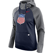 Nike Women's USA Hockey Crest Navy/White Pullover Hoodie