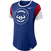 Nike Women's Chicago Cubs Tri-Blend T-Shirt