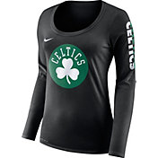 Nike Women's Boston Celtics Dri-FIT Black Logo Long Sleeve Shirt