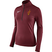 Nike Women's Cleveland Cavaliers Dri-FIT Burgundy Element Half-Zip Pullover
