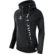 Nike Women's Houston Rockets Black Full-Zip Hoodie