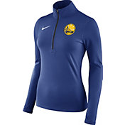Nike Women's Golden State Warriors Dri-FIT Royal Element Half-Zip Pullover