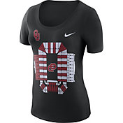 Nike Women's Oklahoma Sooners Local Imagery Football Black T-Shirt
