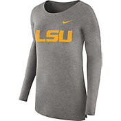 Nike Women's LSU Tigers Grey Cozy Long Sleeve Shirt