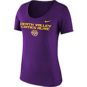 Nike Women's LSU Tigers Purple 'Death Valley Comes Alive' Football Mantra T-Shirt
