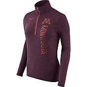 Nike Women's Minnesota Golden Gophers Heathered Maroon Element Half-Zip Shirt