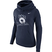 Nike Women's North Carolina Tar Heels Navy Club Funnel Neck Hoodie