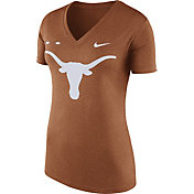 Nike Women's Texas Longhorns Burnt Orange Stripe Bar V-Neck T-Shirt