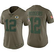 Nike Women's Home Limited Salute to Service Green Bay Packers Aaron Rodgers #12 Jersey