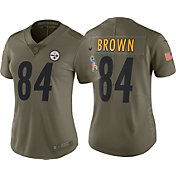 Nike Women's Home Limited Salute to Service Pittsburgh Steelers Antonio Brown #84 Jersey