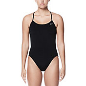 Nike Women's Poly Core Solid Cut-Out Tank Swimsuit