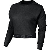 Nike Women's Tapered Bottom Long Sleeve Cropped Shirt
