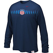 Nike Youth USA Hockey Legion Crest Navy Long Sleeve Shirt