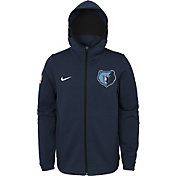 Nike Youth Memphis Grizzlies On-Court Navy Dri-FIT Showtime Full-Zip Hoodie