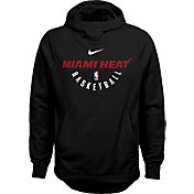 Nike Youth Miami Heat Therma-FIT Black Practice Performance Hoodie