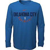 Nike Youth Oklahoma City Thunder Dri-FIT Blue Practice Long Sleeve Shirt
