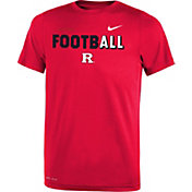 Nike Youth Rutgers Scarlet Knights Scarlet FootbALL Sideline Legend T-Shirt