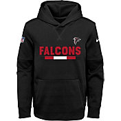 Nike Youth Atlanta Falcons Therma-FIT Black Performance Pullover Hoodie