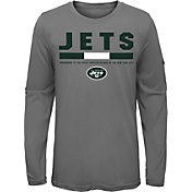 Nike Youth New York Jets Legend Staff Grey Performance Long Sleeve Shirt