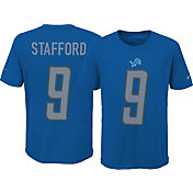 Nike Youth Detroit Lions Matthew Stafford #9 Pride Blue T-Shirt