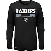 Nike Youth Oakland Raiders Legend Staff Black Long Sleeve Shirt