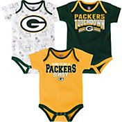 NFL Team Apparel Infant Green Bay Packers Playmaker 3-Piece Creeper Set