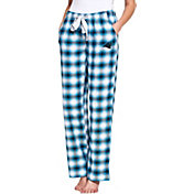 Concepts Sport Women's Carolina Panthers Forge Fleece Flannel Pants