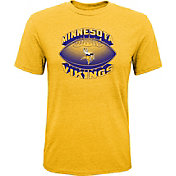 NFL Team Apparel Youth Minnesota Vikings Satellite Gold T-Shirt