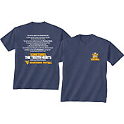 New World Graphics Men's West Virginia Mountaineers Blue 'The Truth About West Virginia' T-Shirt