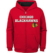 NHL Youth Chicago Blackhawks Stated Red Full-Zip Hoodie
