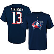 NHL Youth Columbus Blue Jackets Cam Atkinson #13 Navy T-Shirt