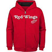 NHL Youth Detroit Red Wings Stated Red Full-Zip Hoodie