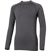Reebok Boys' Cold Weather Compression Heather Crewneck Long Sleeve Shirt