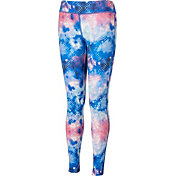 Reebok Girls' Cold Weather Compression Printed Tights