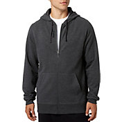 Reebok Men's Heather Cotton Fleece Full Zip Hoodie