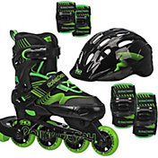 Roller Derby Boys' Carver Adjustable Inline Skates and Protective Pack