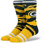 Stance Green Bay Packers Tiger Stripe Crew Socks