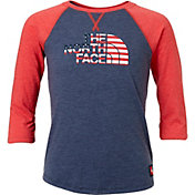 The North Face Girls' International Collection Tri-Blend 3/4 Sleeve Shirt