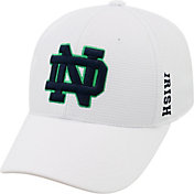 Top of the World Men's Notre Dame Fighting Irish White Booster Plus 1Fit Flex Hat