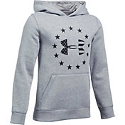 Under Armour Boys' Freedom Logo Rival Hoodie