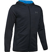Under Armour Boys' Reactor Hybrid Full-Zip Golf Hoodie
