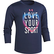 Under Armour Little Girls' Love Your Sport Graphic Long Sleeve Shirt