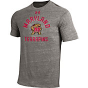 Under Armour Men's Maryland Terrapins Grey Tri-Blend Performance T-Shirt