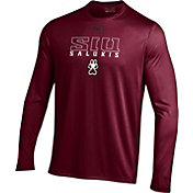 Under Armour Men's Southern Illinois  Salukis Maroon UA Tech Performance Long Sleeve Shirt