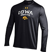 Under Armour Men's Iowa Hawkeyes Black Long Sleeve Tech T-Shirt