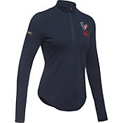 Under Armour NFL Combine Authentic Women's Houston Texans Favorites Half-Zip Navy Pullover