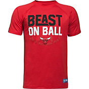 "Under Armour Youth Chicago Bulls ""Beast On Ball"" Red Tech Performance T-Shirt"