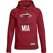 Under Armour Youth Miami Heat Red Lockup Fleece Hoodie