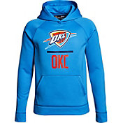 Under Armour Youth Oklahoma City Thunder Blue Lockup Fleece Hoodie